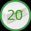 20 Foot-Sox Dispenser Boxes